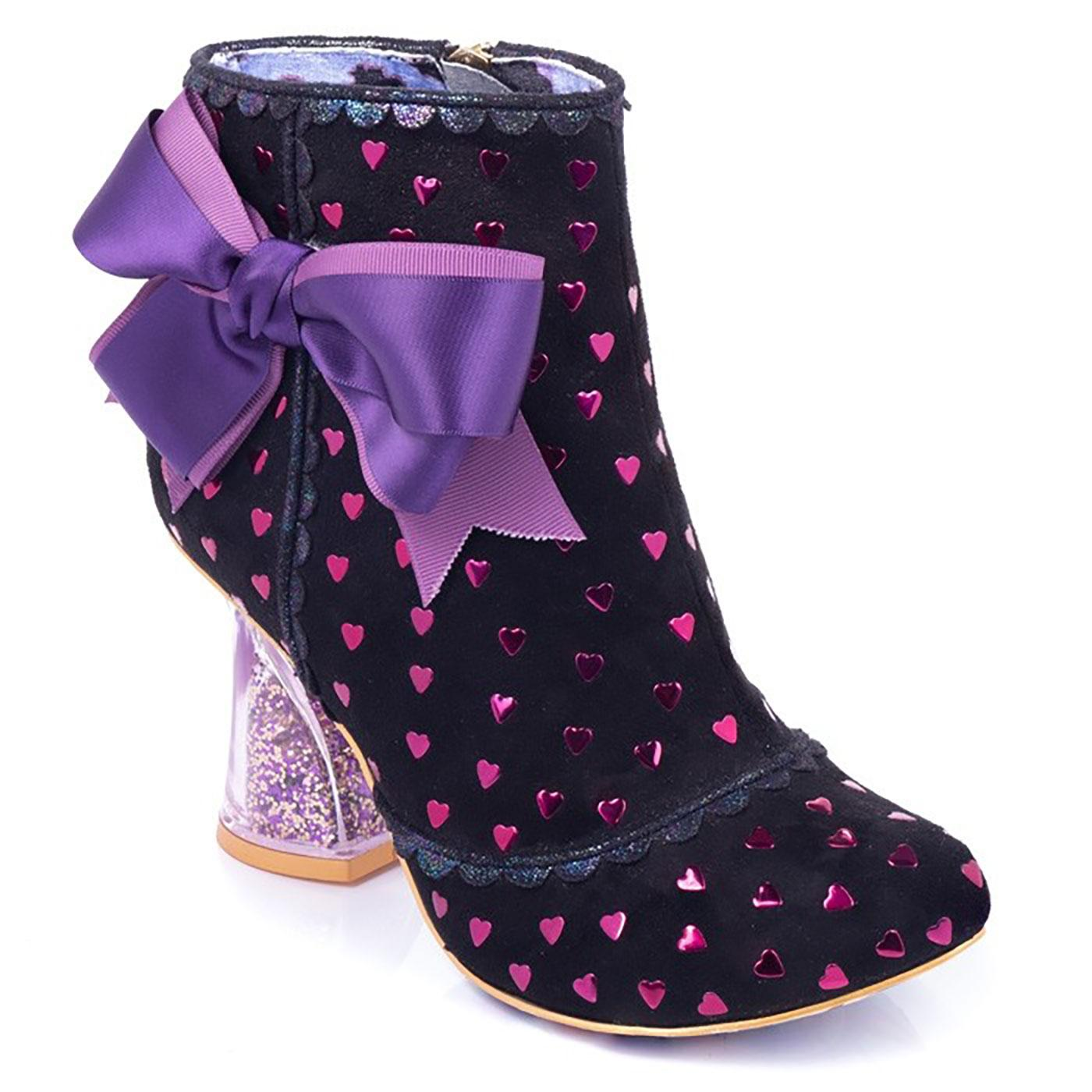 Outta Time IRREGULAR CHOICE Glitter Heel Boots