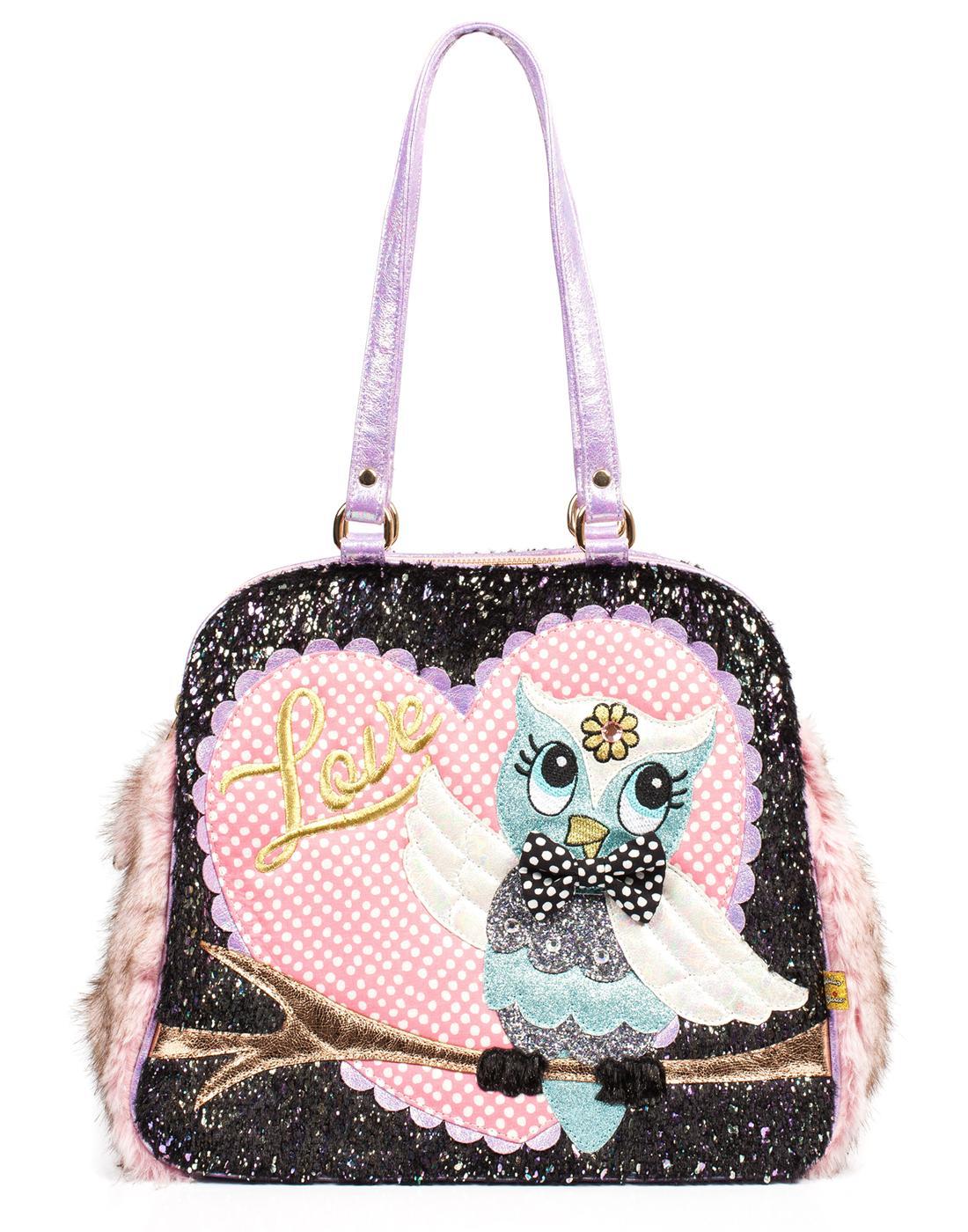 What A Hoot IRREGULAR CHOICE Owl Shoulder Bag P/B