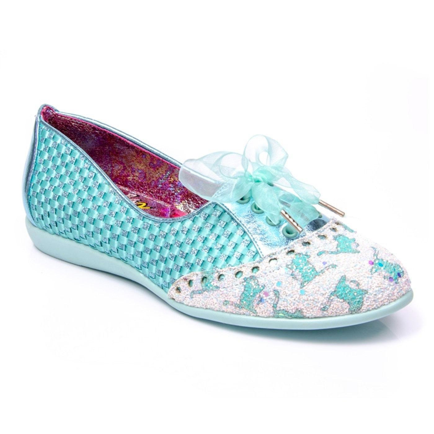 Passion IRREGULAR CHOICE Retro Woven Kitty Flats