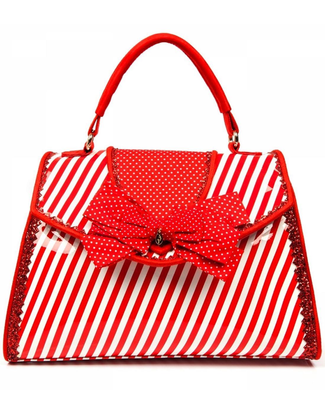 Peggy IRREGULAR CHOICE Retro Box Hangbag in Red