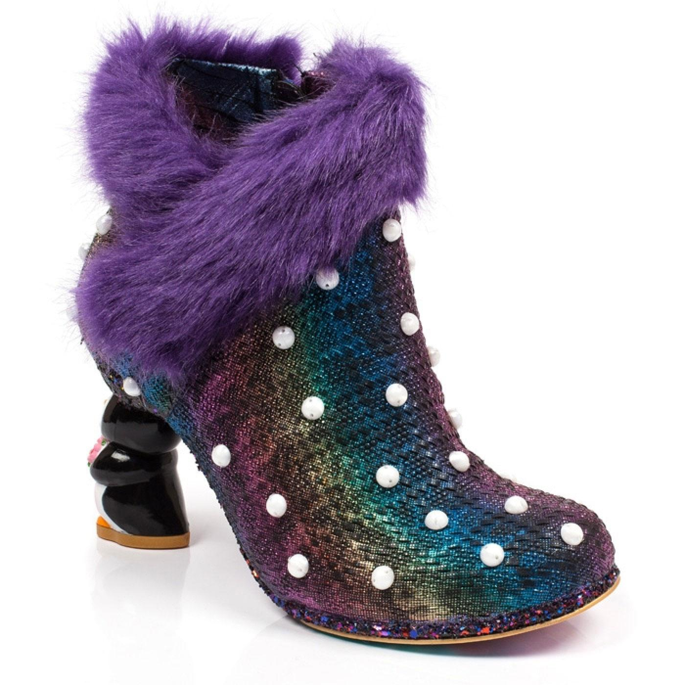 Snow Empress IRREGULAR CHOICE Penguin Heel Boots