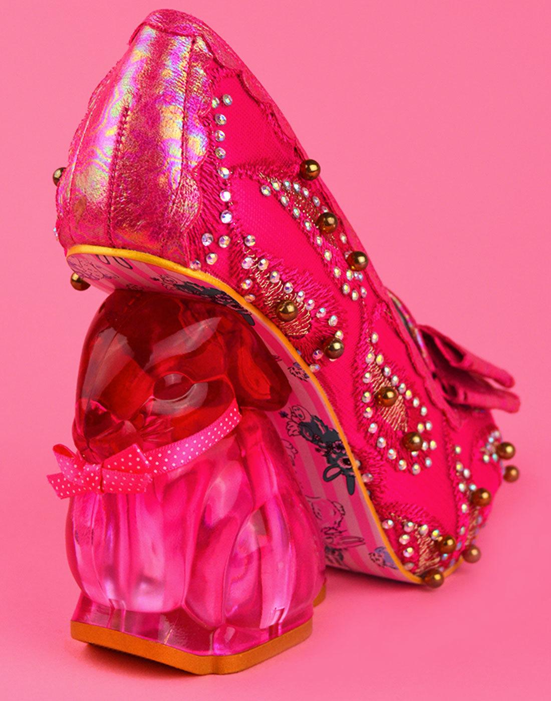9a3af1942fb IRREGULAR CHOICE Hoppity Limited Edition Pink Bunny Heel Shoes