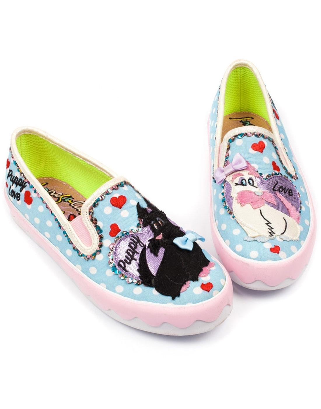 Puppy Love IRREGULAR CHOICE Retro Doggy Trainers
