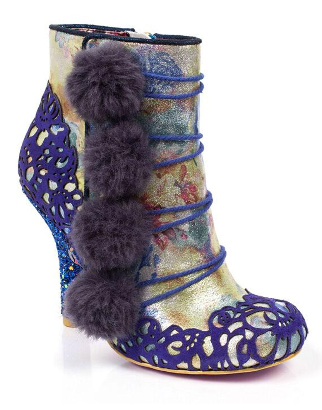 Slumber Party IRREGULAR CHOICE Pom-Pom Heel Boots