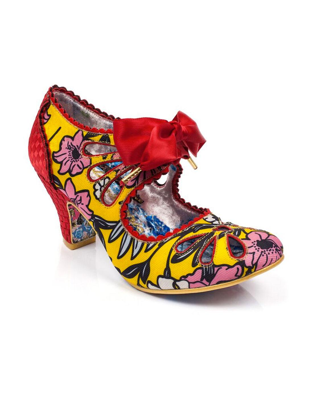 Sugar Plum IRREGULAR CHOICE Floral Heels YELLOW