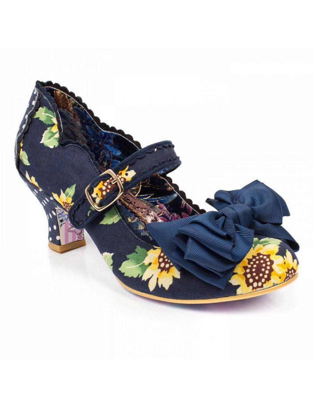 Summer Breeze IRREGULAR CHOICE Navy Heels Sunflower Heels Navy 6aaa03