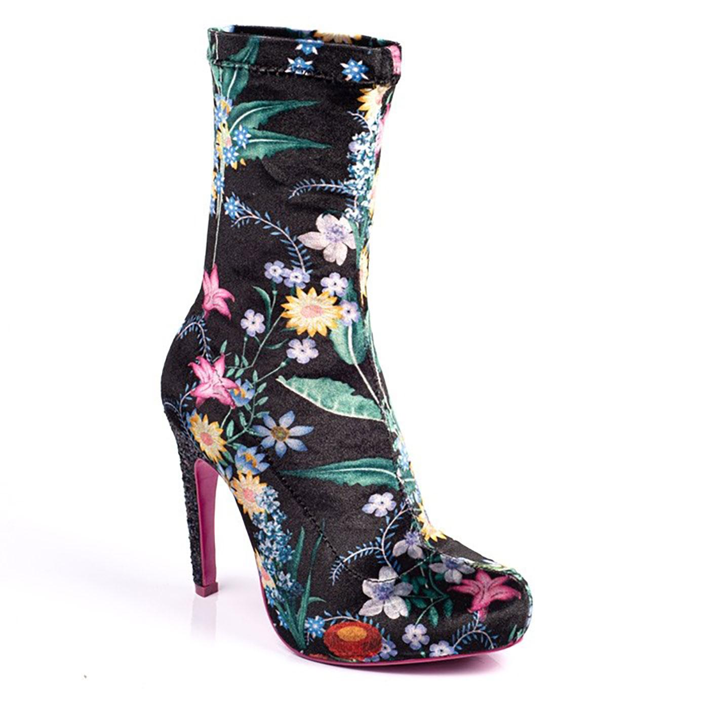 Sumptuous Sue POETIC LICENCE Floral Sock Boots