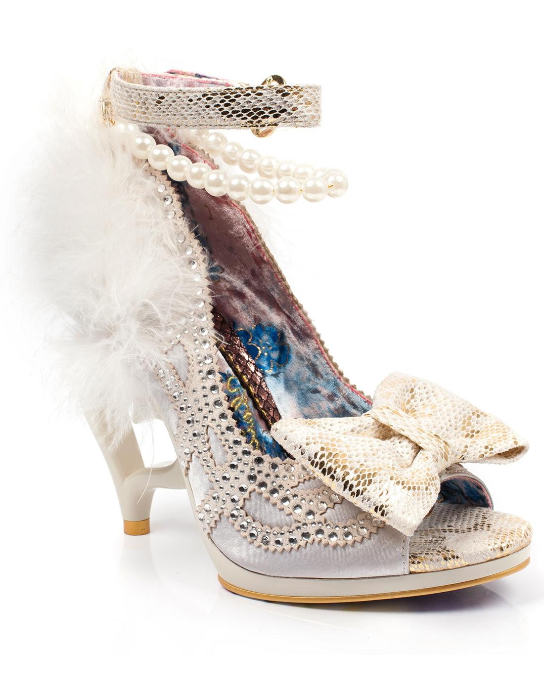 Tingle Tastic IRREGULAR CHOICE Fluffy Heart Heels