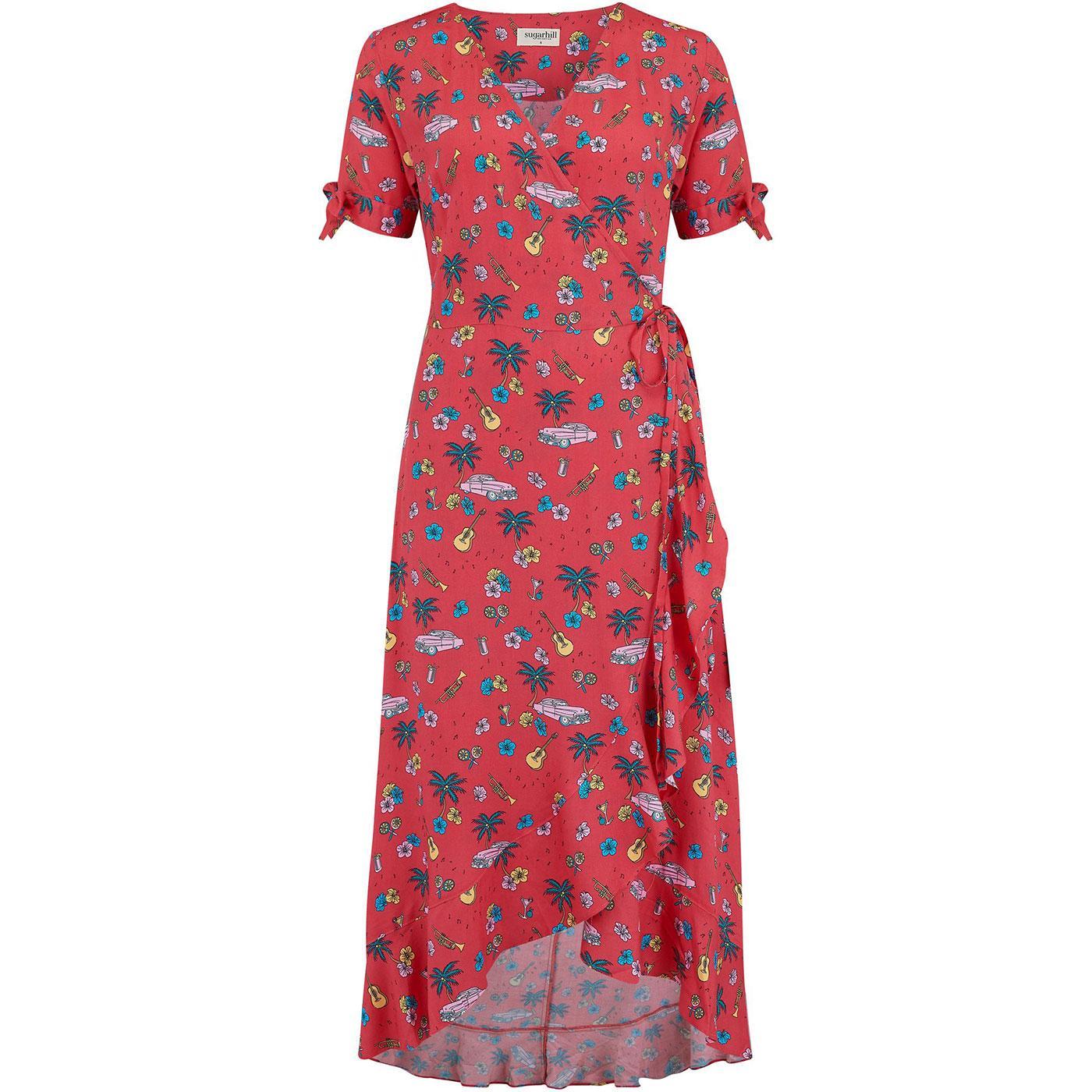 Jackie SUGARHILL BRIGHTON 50s Havana Wrap Dress
