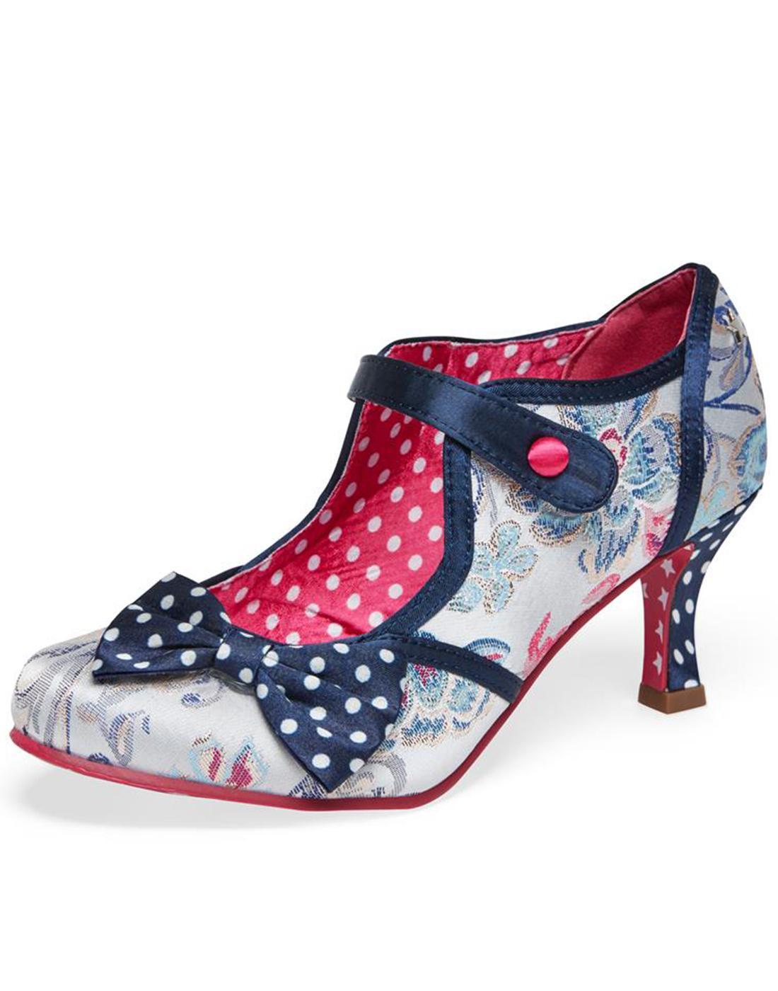 Clara JOE BROWNS 1950s Vintage Bow Bar Heels