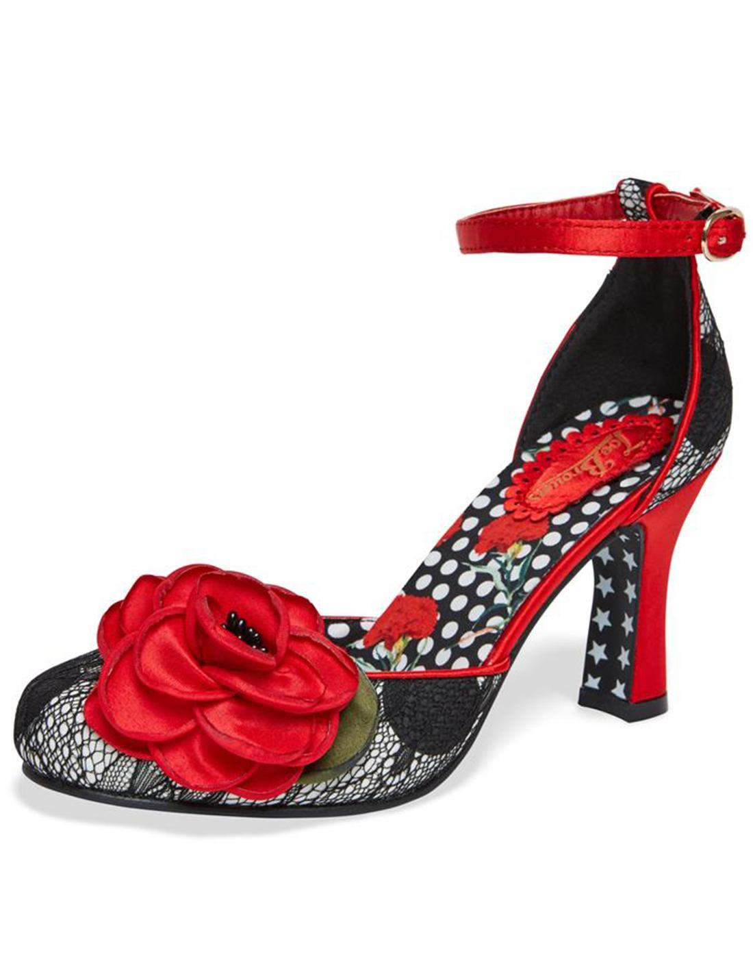 Cordelia JOE BROWNS Retro Lace Floral Heels