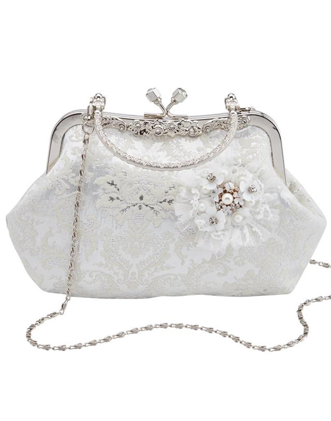 Hitched JOE BROWNS Bridal Vintage Handbag- Ivory