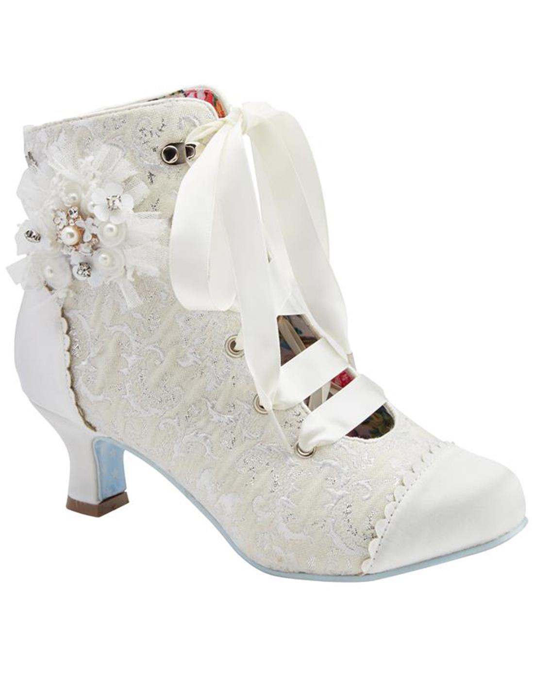 Hitched JOE BROWNS Vintage Heeled Bridal Boots