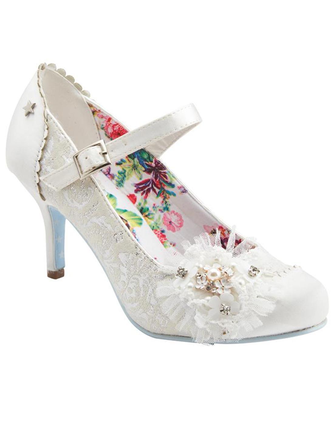 Hitched JOE BROWNS Vintage Bridal Court Shoes