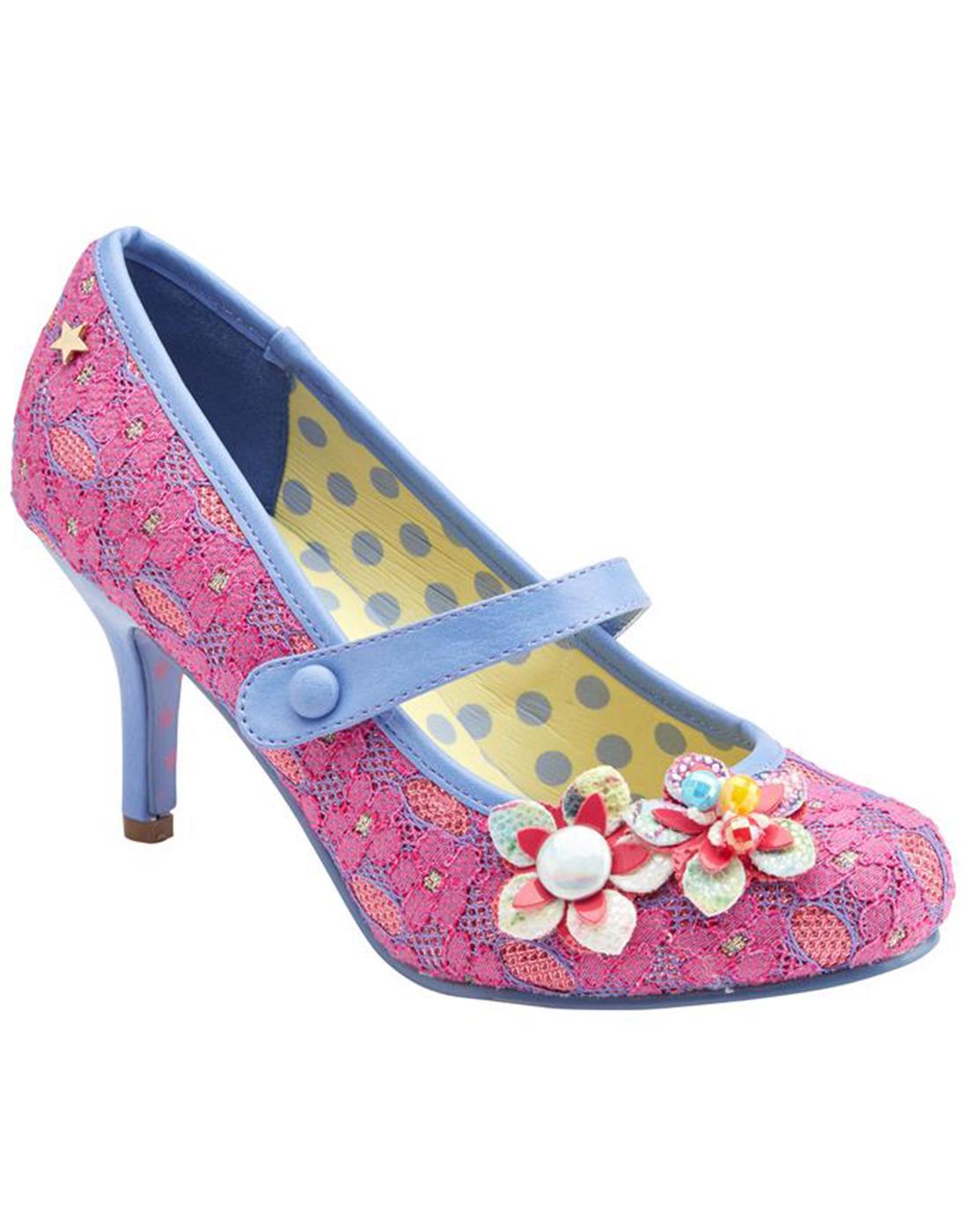 Malia JOE BROWNS Vintage lace Pink floral Heels