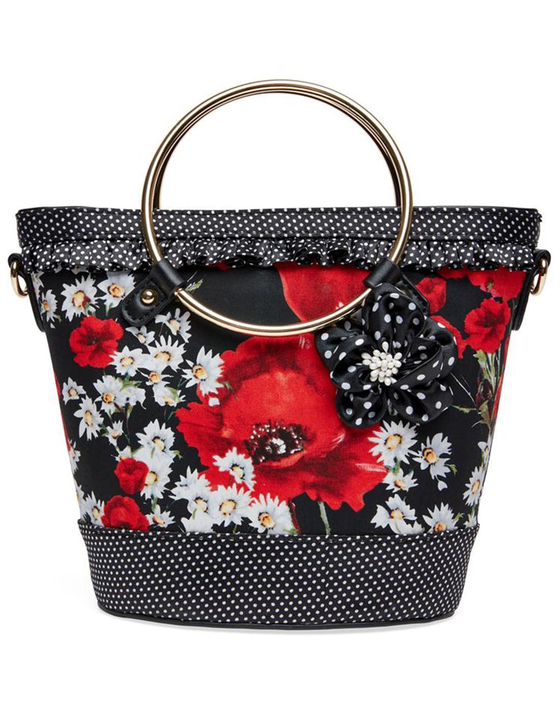 Natalia JOE BROWNS 1970'S Vintage Floral Handbag