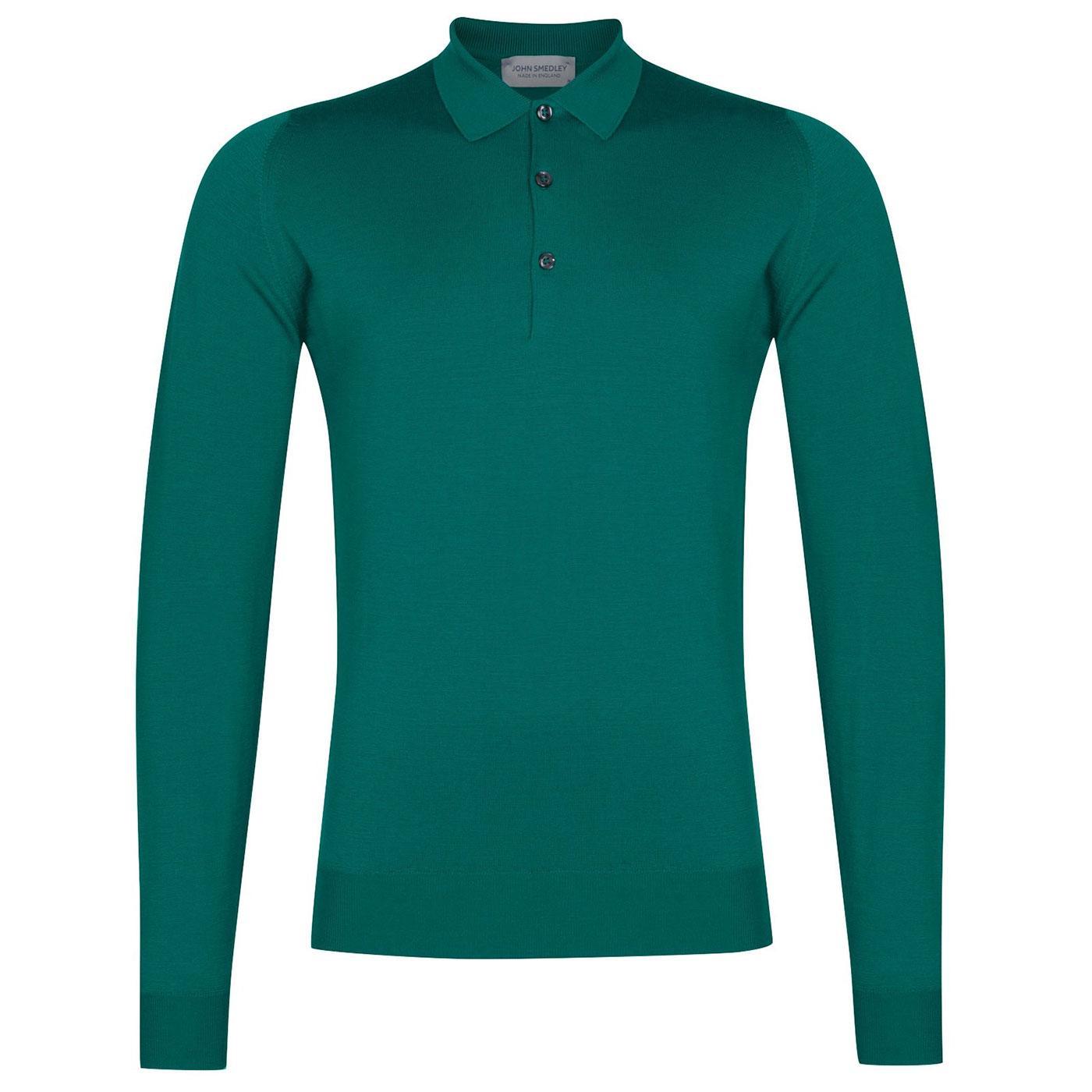 Belper JOHN SMEDLEY 60's Knitted Mod Polo Shirt LG