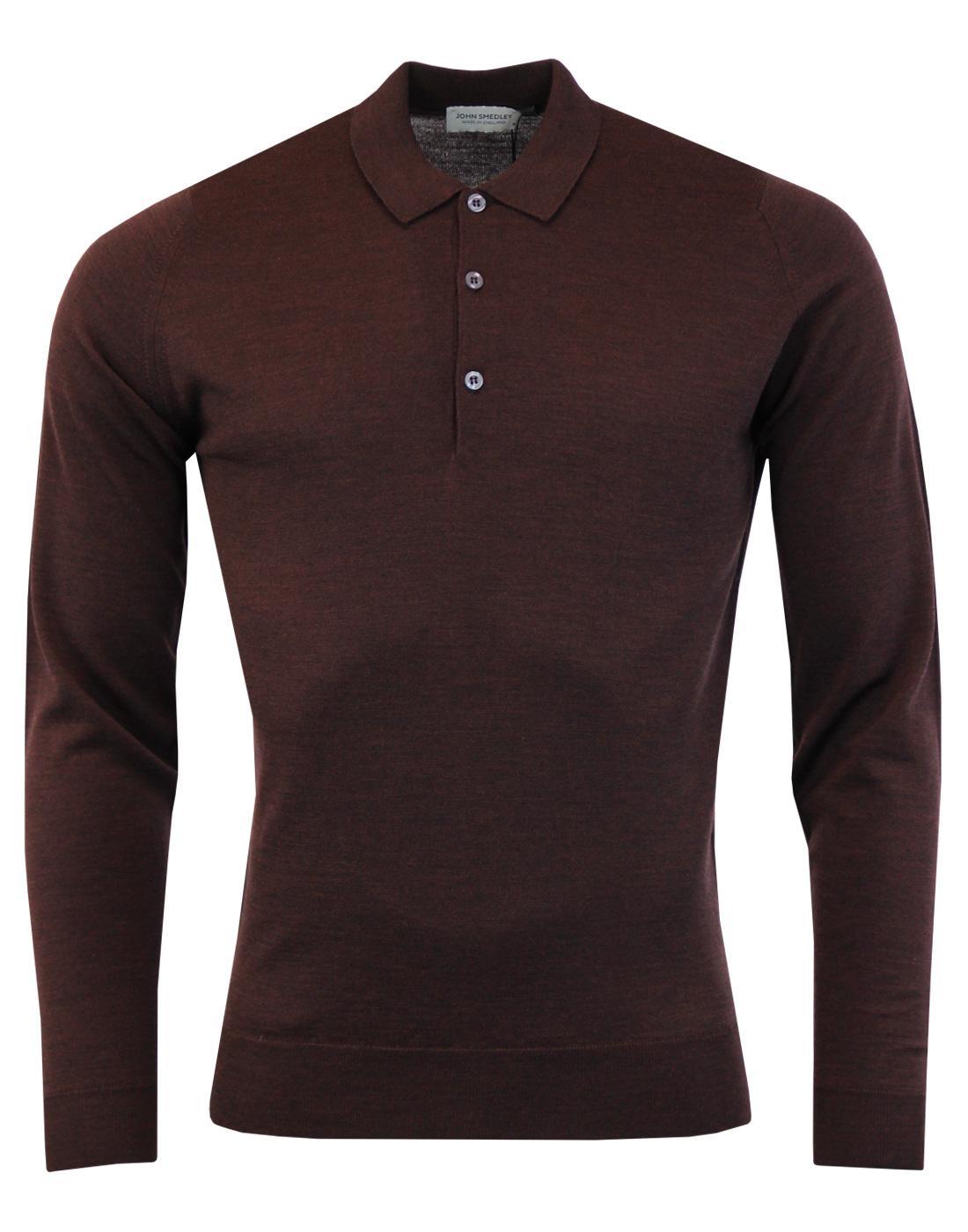 Belper JOHN SMEDLEY Men's 60s Mod Knitted Polo (C)