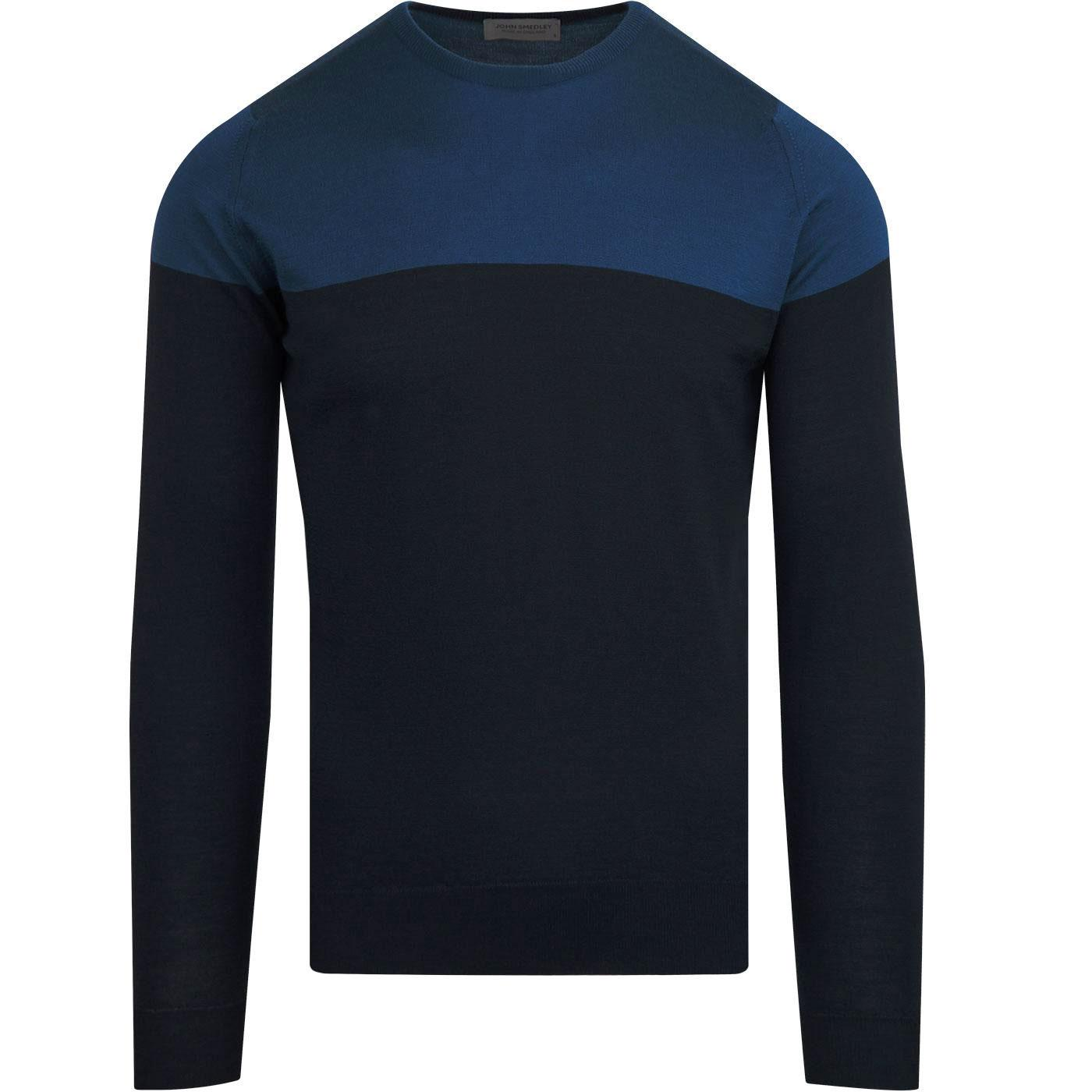 Chaldon JOHN SMEDLEY Colour Block Jumper MIDNIGHT