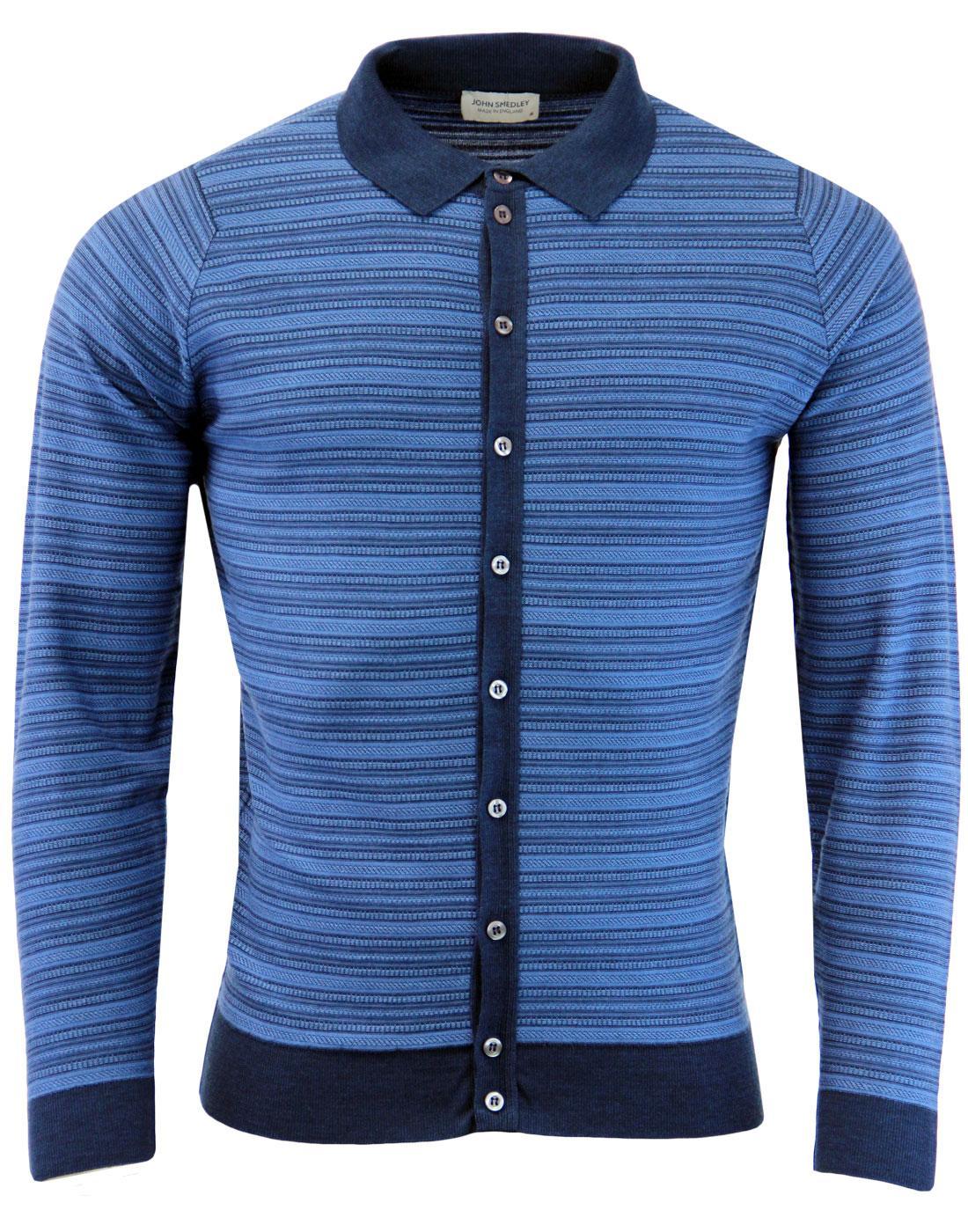 Hemlock JOHN SMEDLEY Mod Jacquard Polo Cardigan