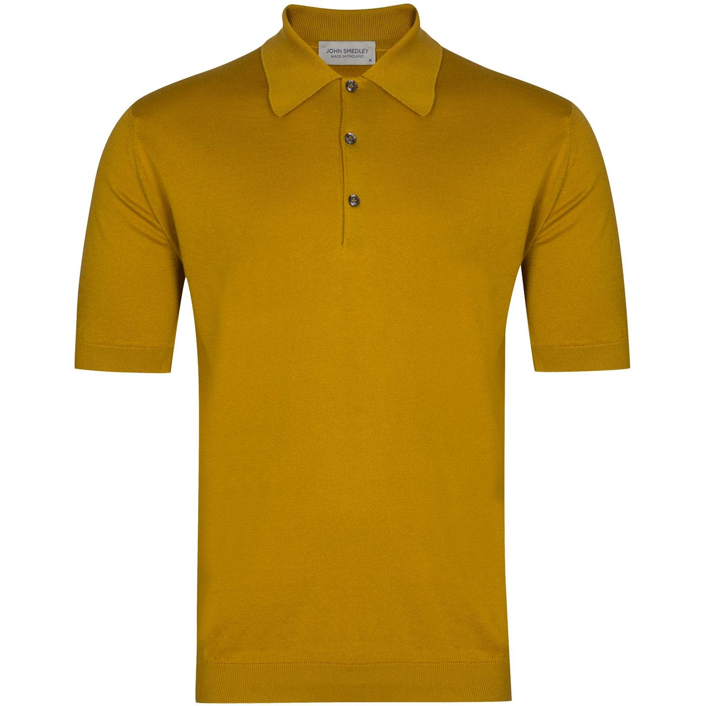 Isis JOHN SMEDLEY Made in England Polo Top YELLOW