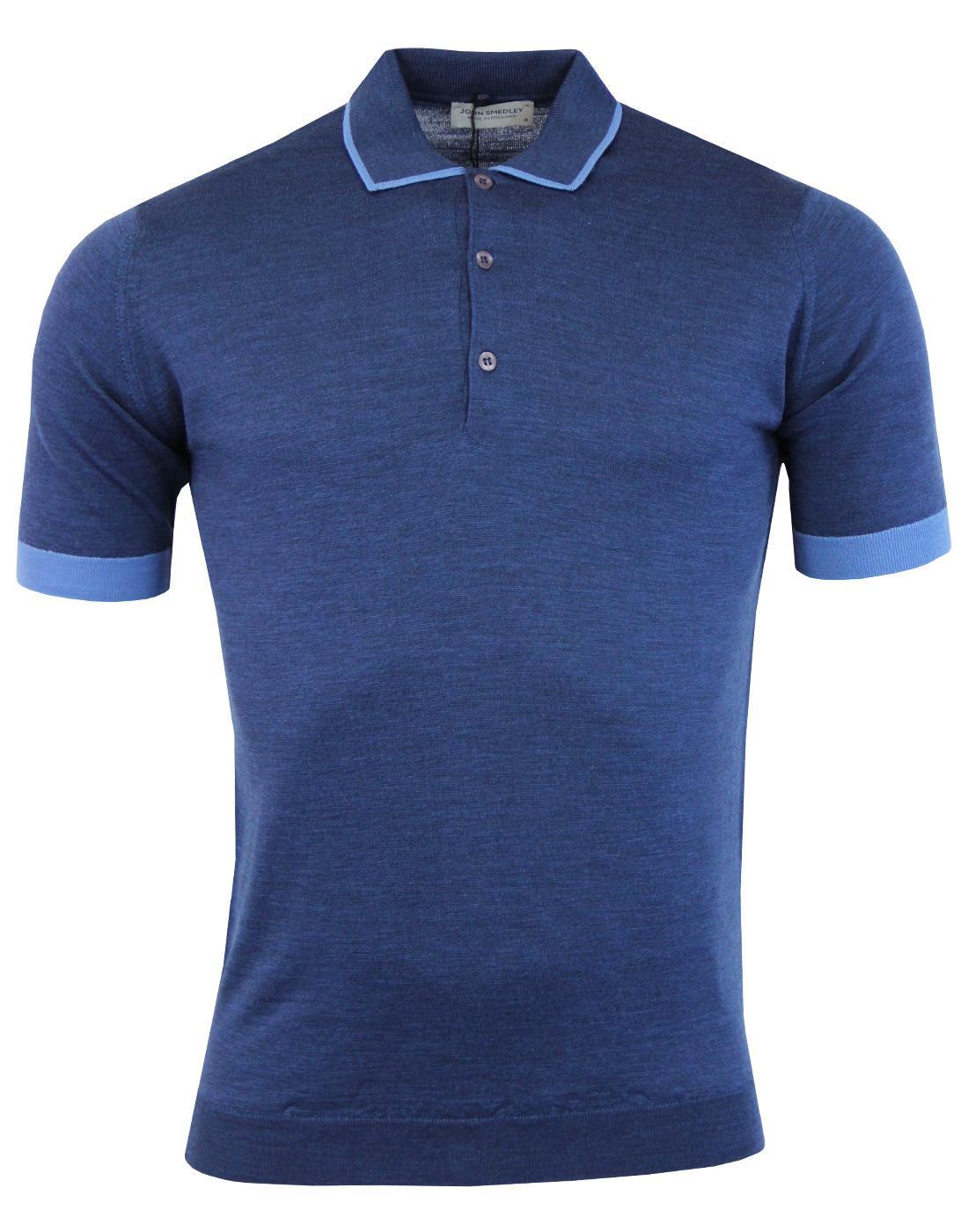 Nailsea JOHN SMEDLEY 1960s Mod Tipped Polo Shirt