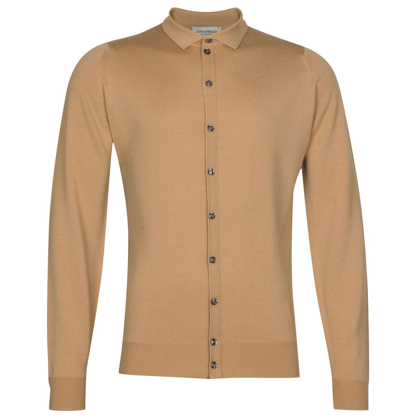 Parwish JOHN SMEDLEY Merino Wool Knit Cardigan LC