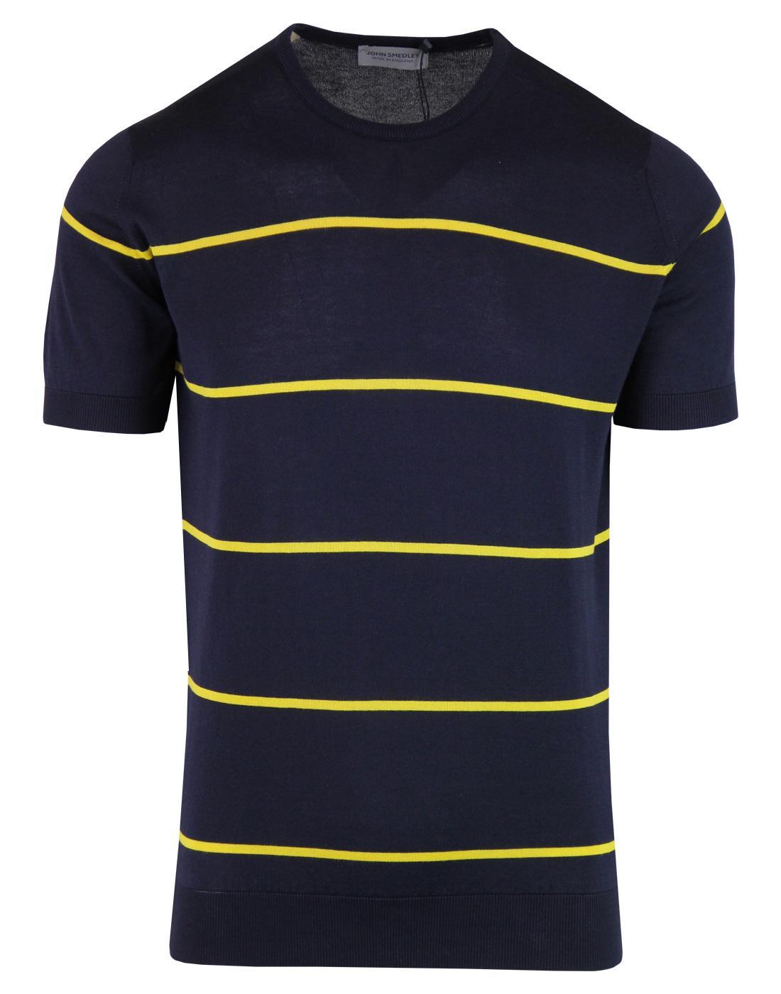 Barlby JOHN SMEDLEY Retro Mod Striped T-shirt (N)