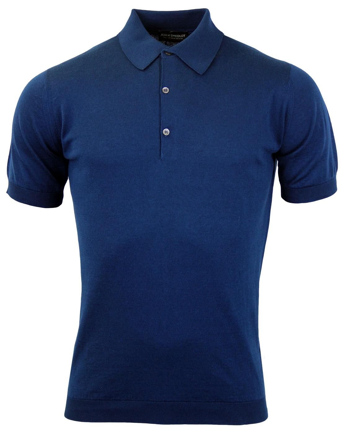 Adrian JOHN SMEDLEY Mens Mod Knitted Polo Shirt I