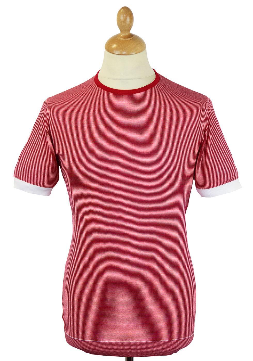 Langston JOHN SMEDLEY 60s Mod Fine Stripe T-shirt