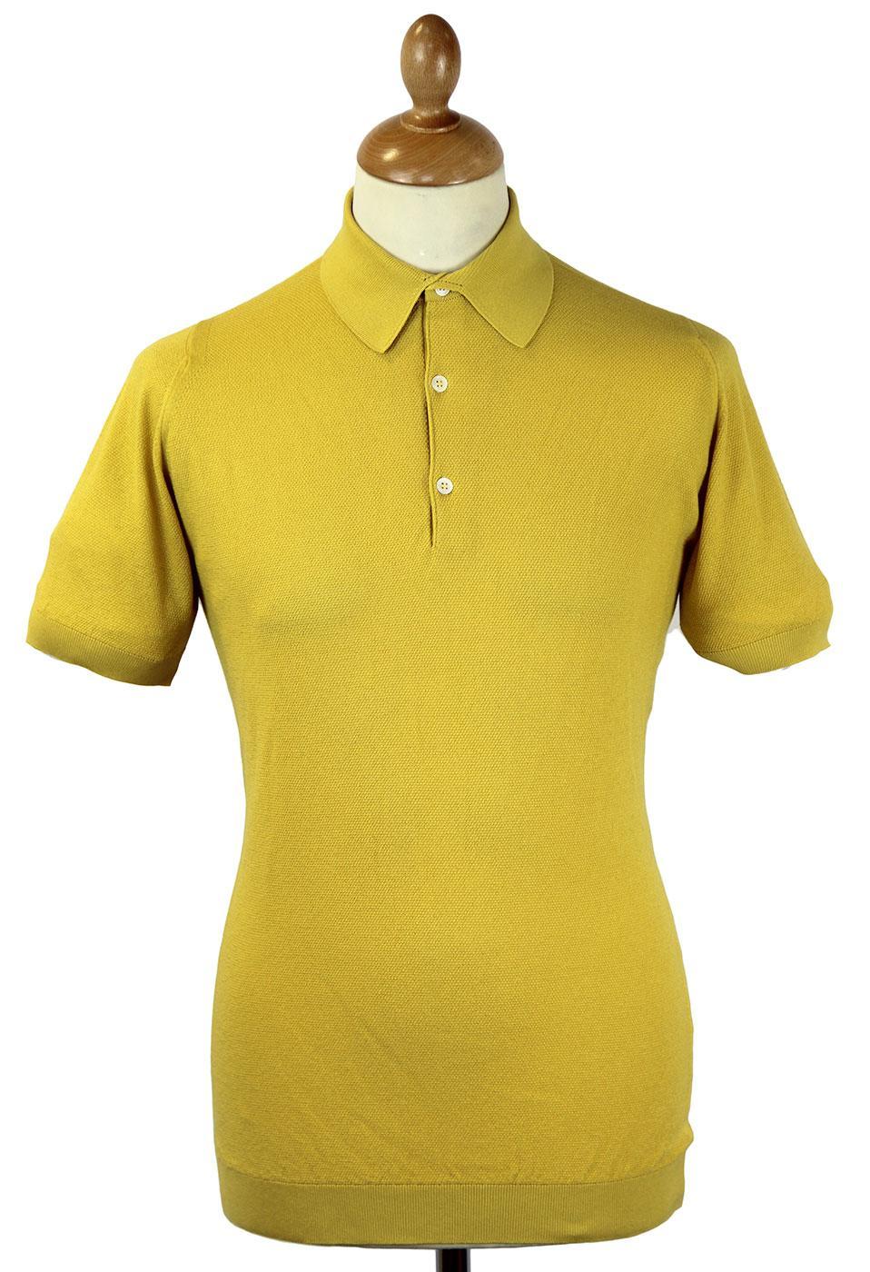 Roth JOHN SMEDLEY Retro Mod Slim Fit Pique Polo LD