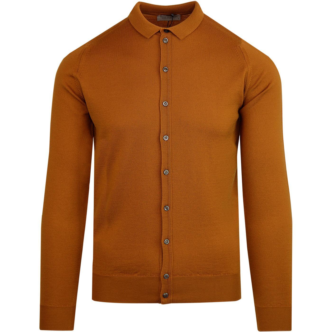 Parwish JOHN SMEDLEY Made in England Shirt BRONZE