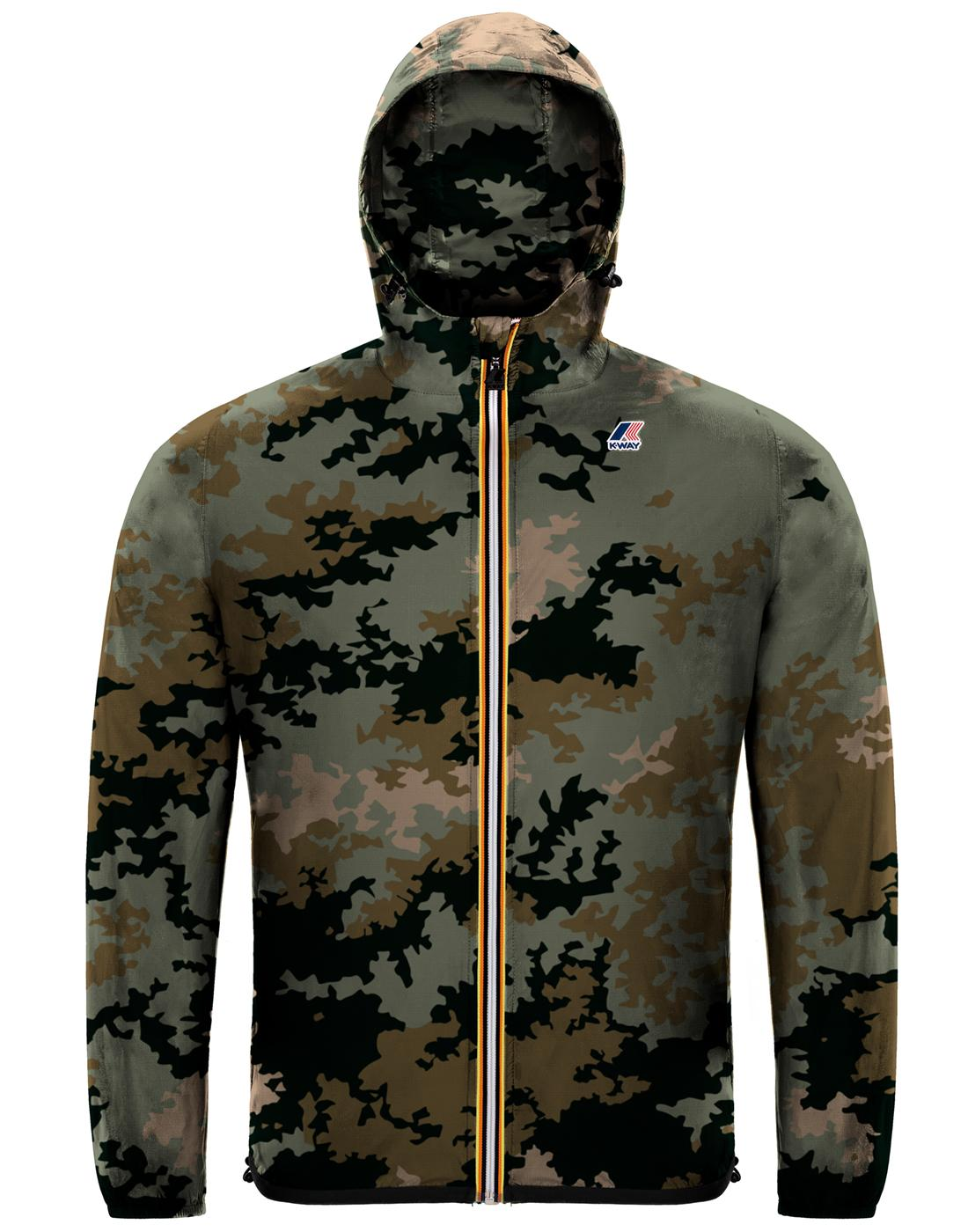Claude K-WAY Men's Retro Pack-A-Mac Cagoule DC