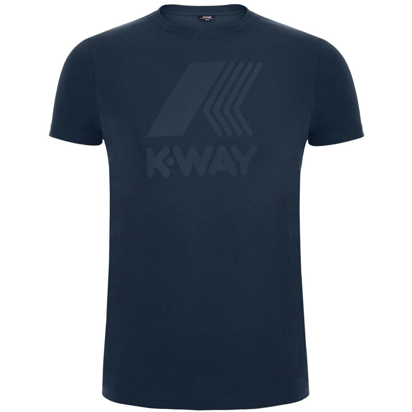 Elliot K-WAY Retro Macro Logo T-Shirt BLUE DEPTHS