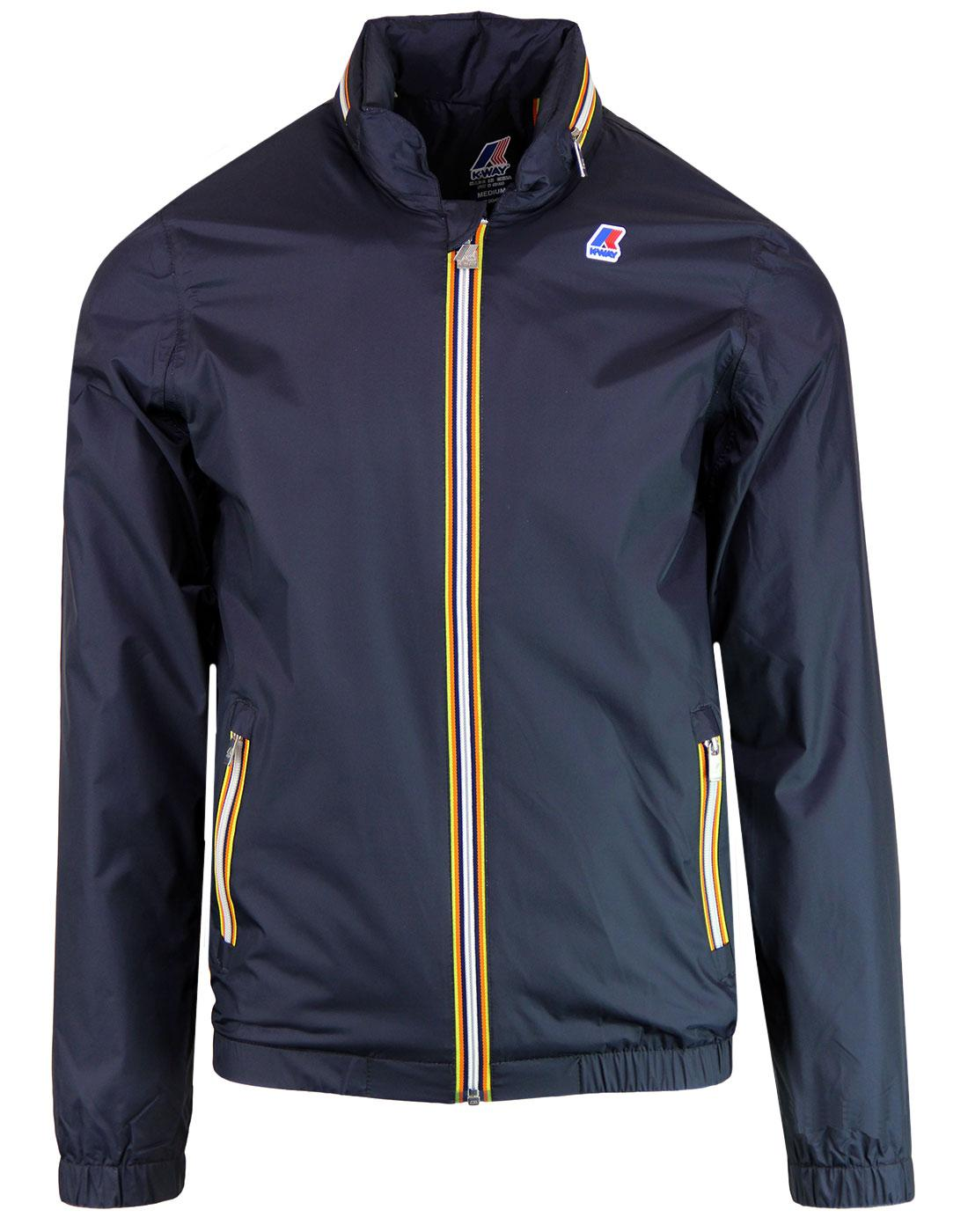 Philippe K-WAY Retro Nylon Jersey Bomber Jacket BD