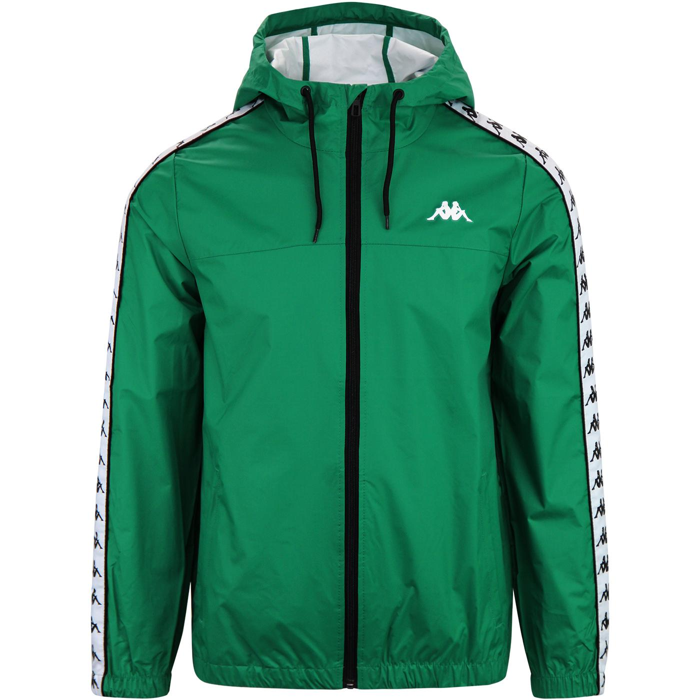 Dawson Banda KAPPA Retro 80s Hooded Jacket (Green)