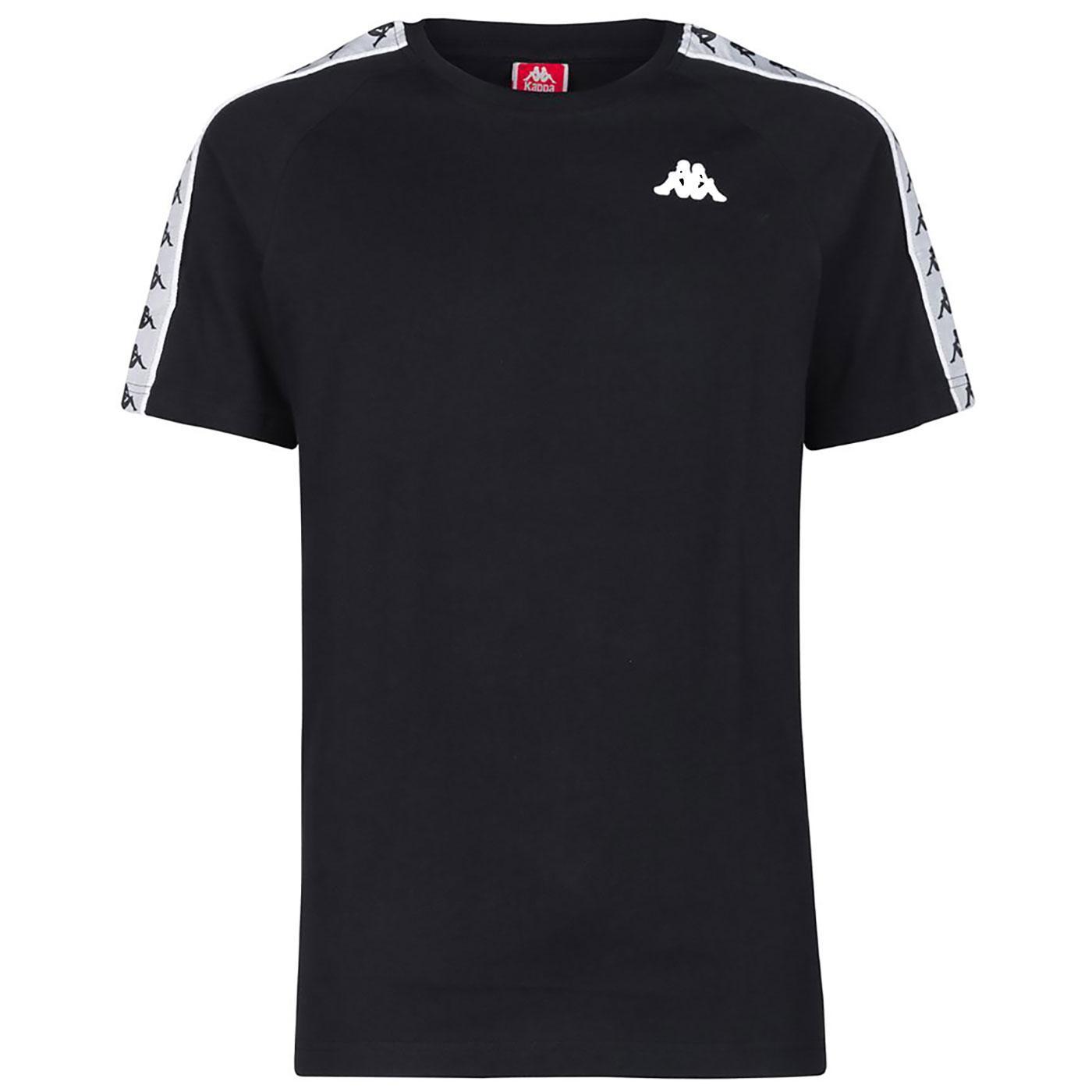 Coen KAPPA Retro 80's Tape Sleeve T-Shirt BLACK