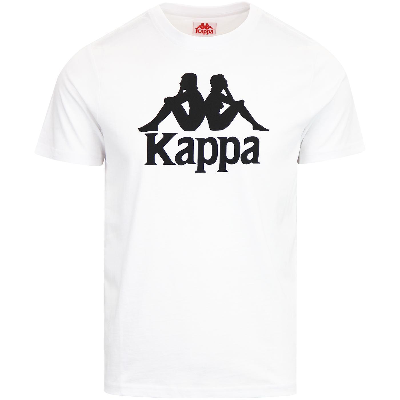 Estessi KAPPA Retro 90s Logo T-Shirt WHITE