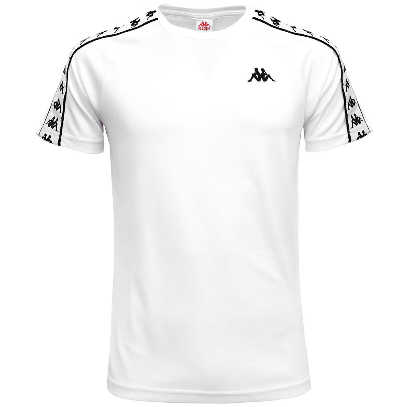 Coen KAPPA Retro 80's Tape Sleeve T-Shirt WHITE