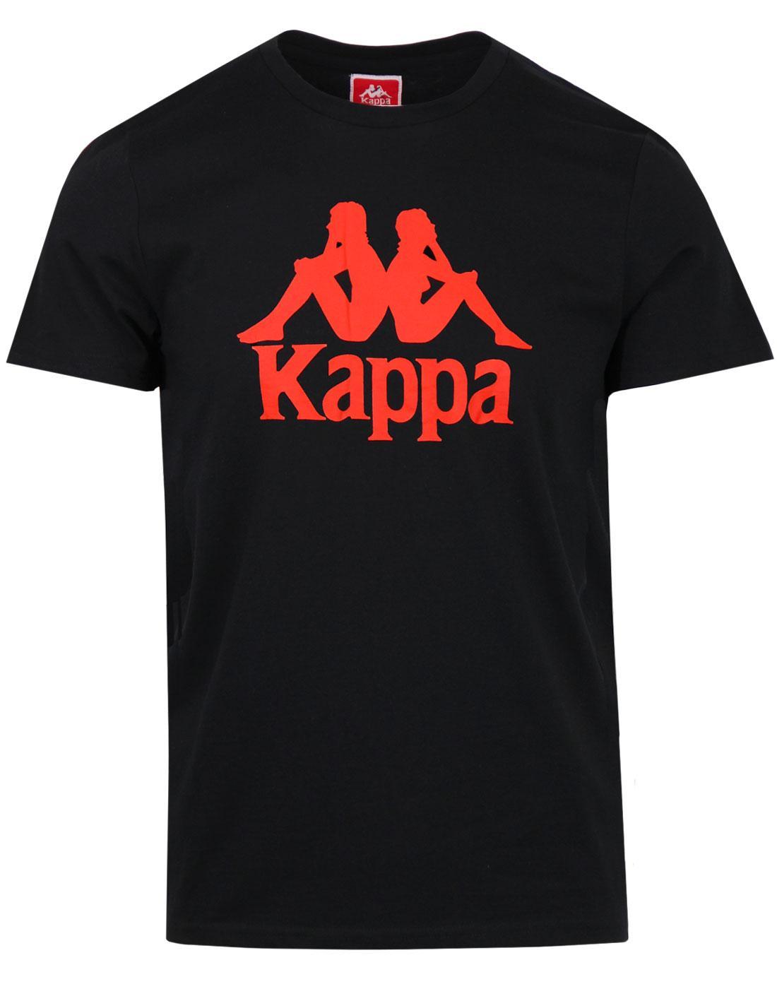 Estessi KAPPA Retro 80s Omni Logo T-shirt BLACK