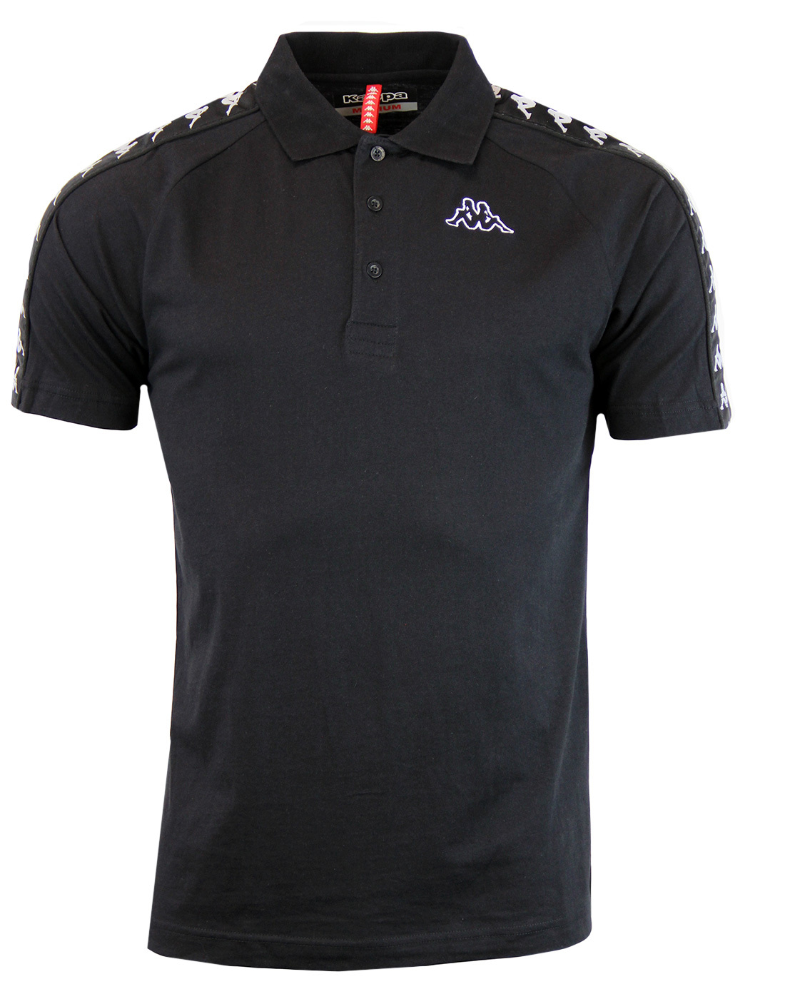 29b620b125 Estrel ROBE DI KAPPA mens 80s Retro Taped Sleeve Polo in Black