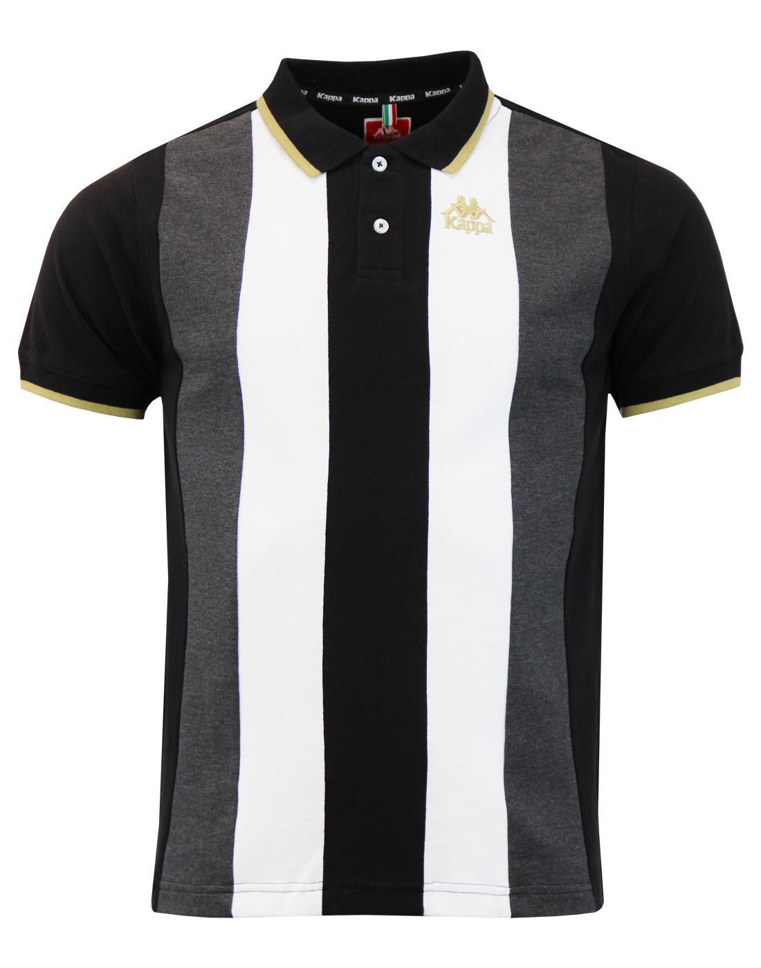 8b8460ab8c KAPPA Keller Men's Retro Indie Mod Stripe Panel Pique Polo Shirt