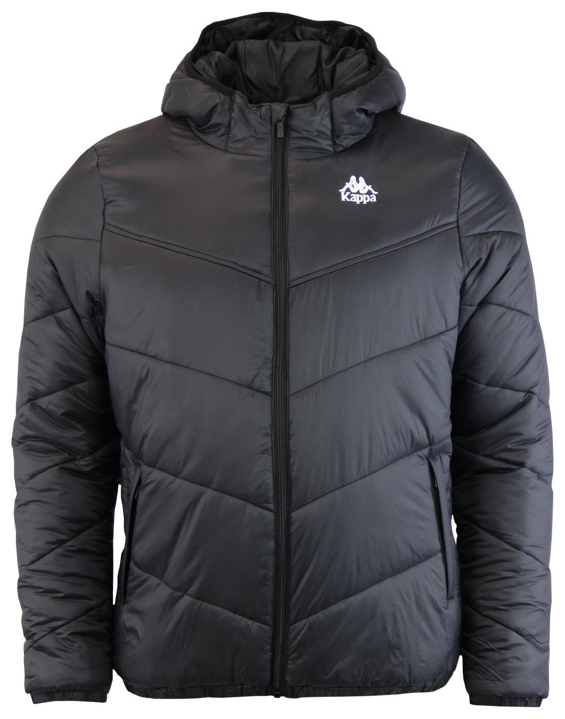 Ramos KAPPA Retro 80s Hooded Chevron Quilt Jacket
