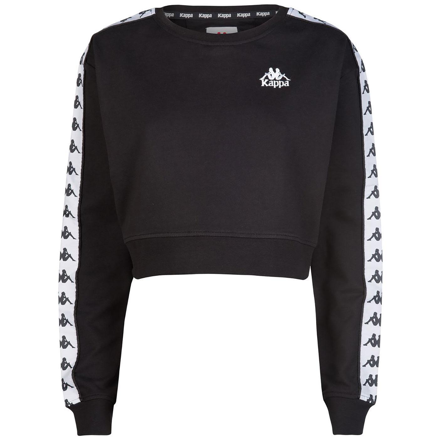 Ays KAPPA Women's Retro 80's Taped Crop Sweatshirt