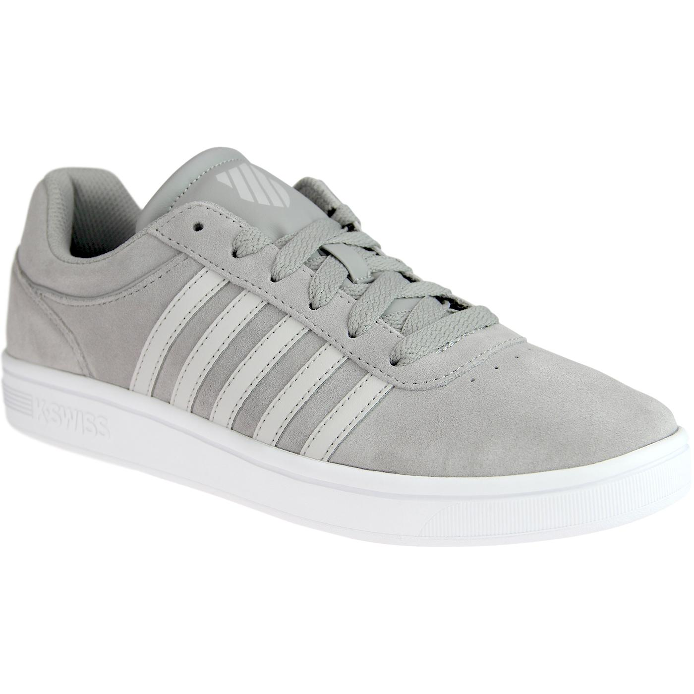 Court Cheswick K-SWISS Retro Suede Trainers (Grey)