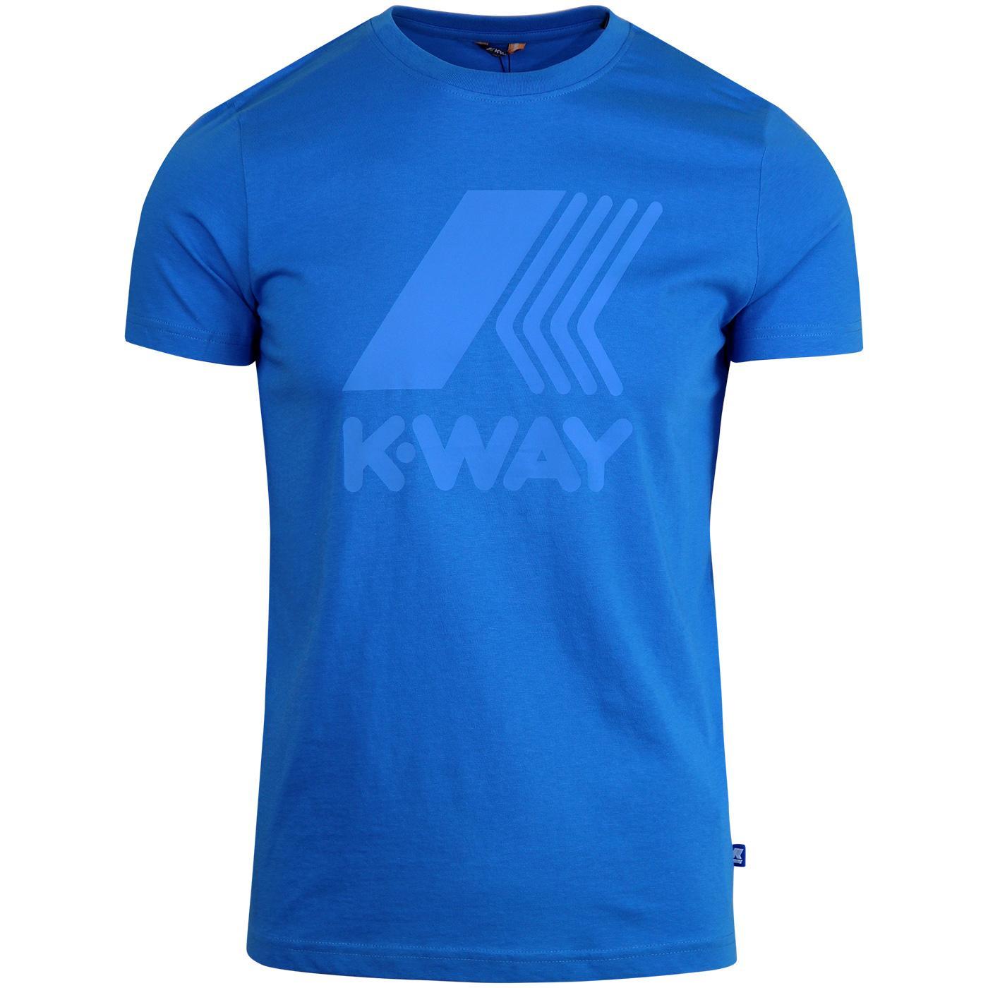 Elliot K-WAY Retro Macro Logo T-Shirt BLUE FRANCE
