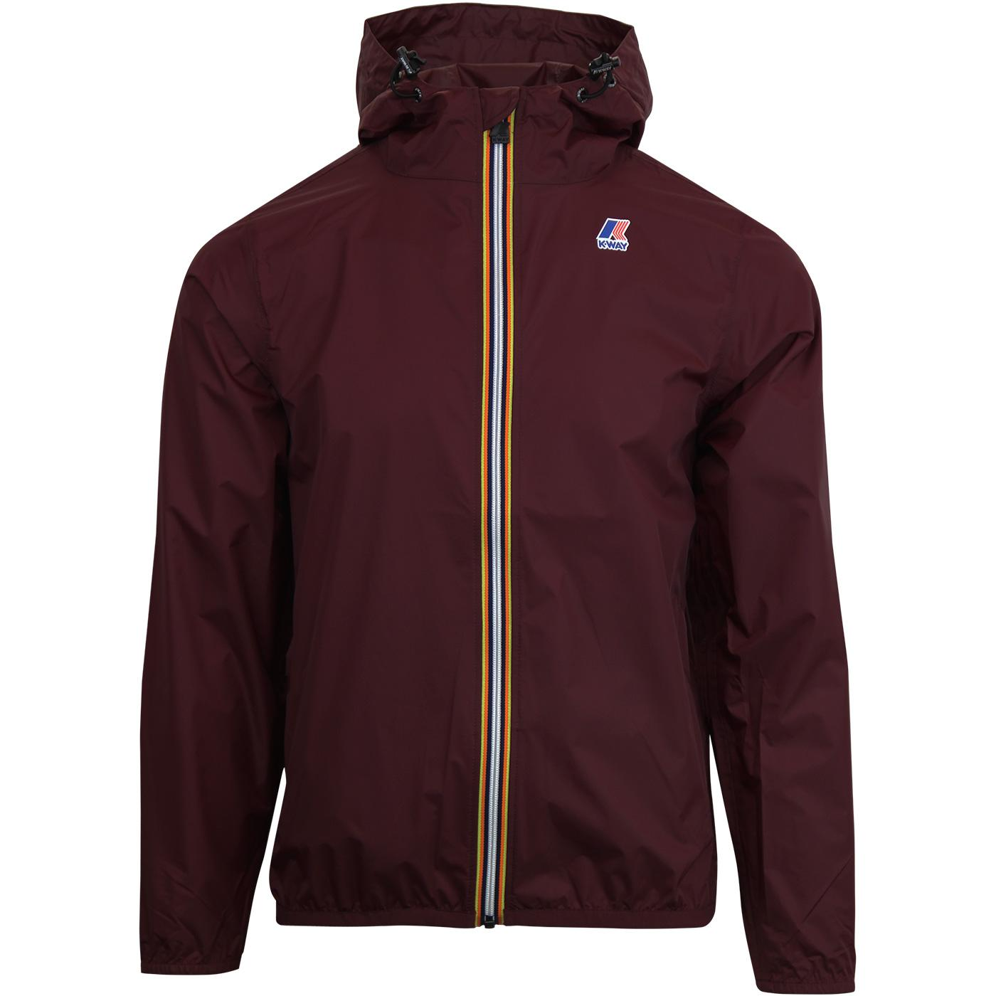 Claude K-WAY Men's Retro Pac-A-Mac Cagoule RED