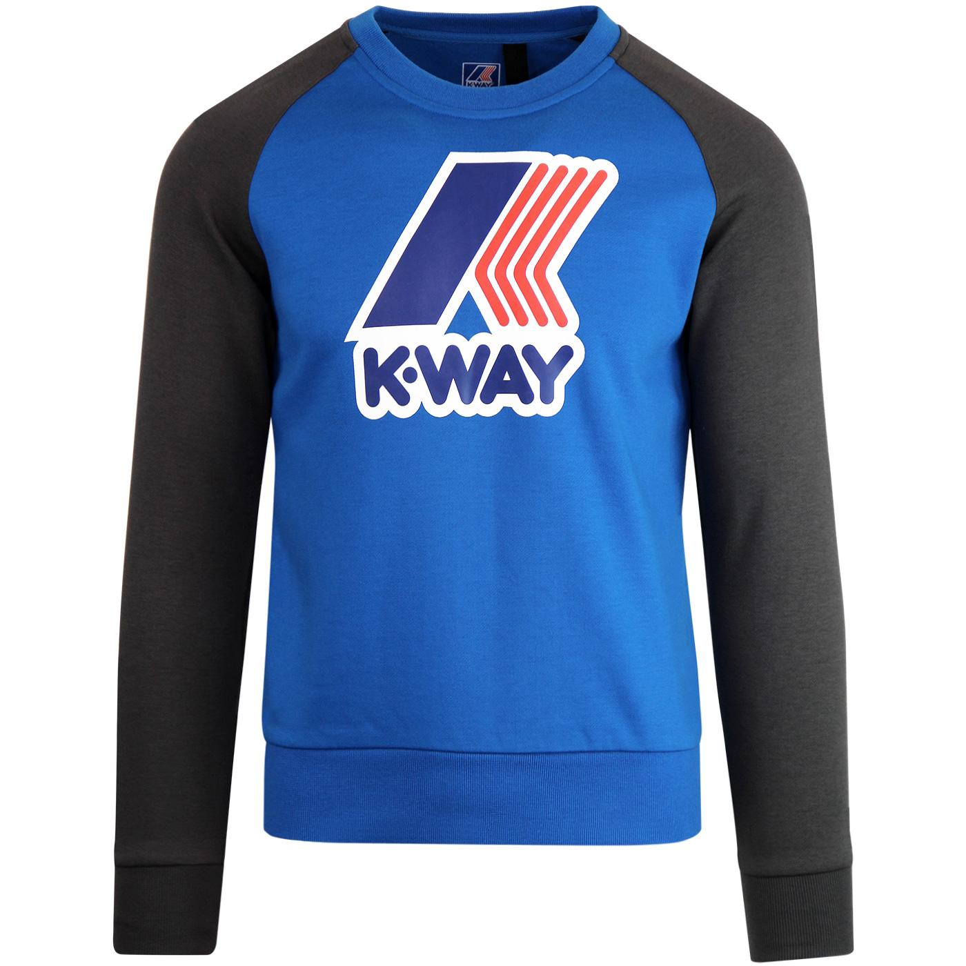 Le Vrai Floyd K-WAY Retro 80s Logo Sweatshirt BLUE