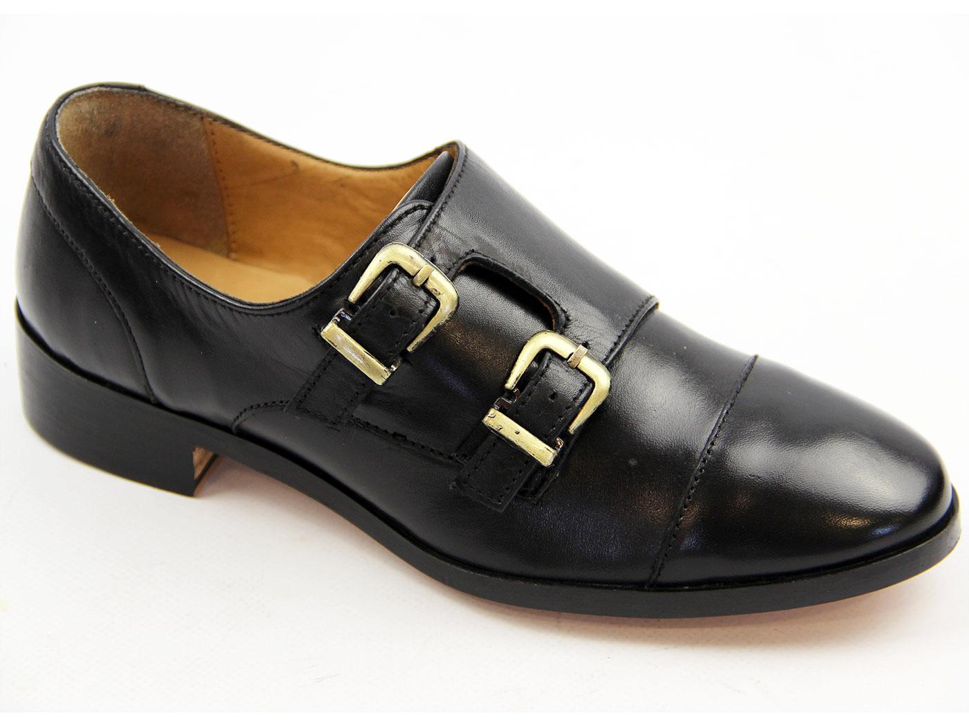 Calypso LACEYS Retro Monk Strap Toe Cap Shoes (B)