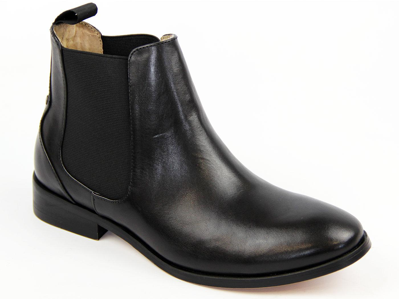 Odele Gusset LACEY Retro 60s Chelsea Boots BLACK